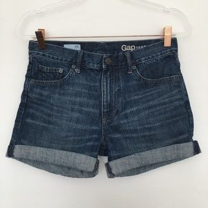GAP Sexy Boyfriend Medium Wash Jean Shorts